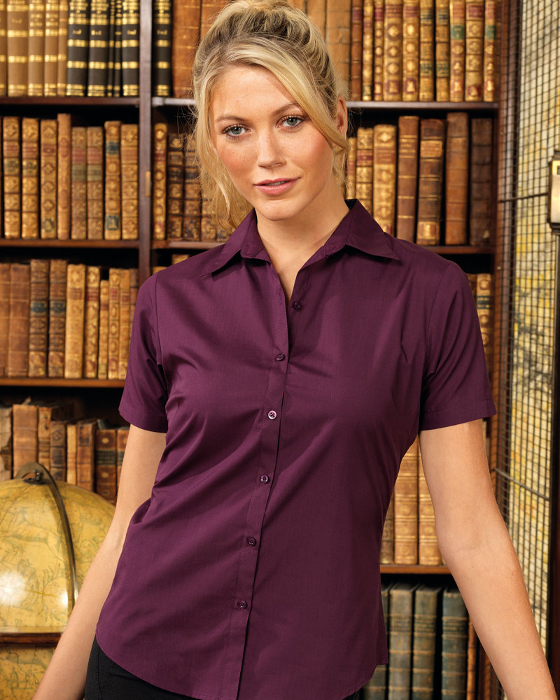 Premier PR302 Ladies Short Sleeve Poplin Blouse