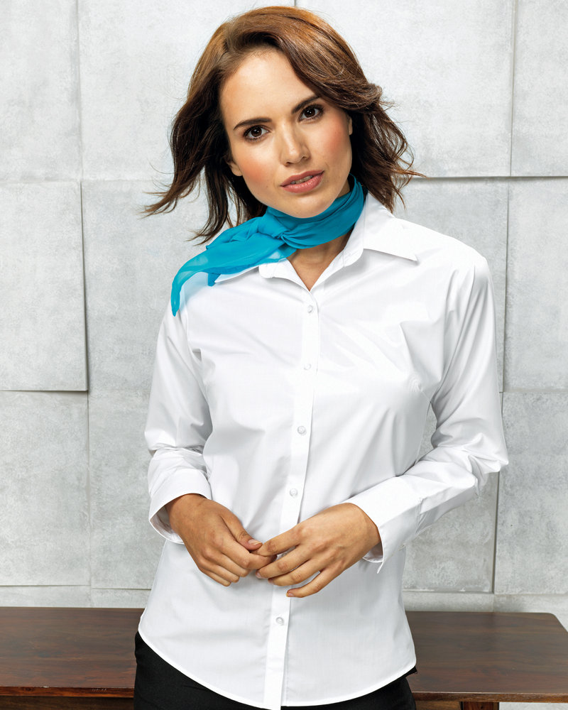 Premier PR307 Ladies Supreme Long Sleeve Poplin Shirt