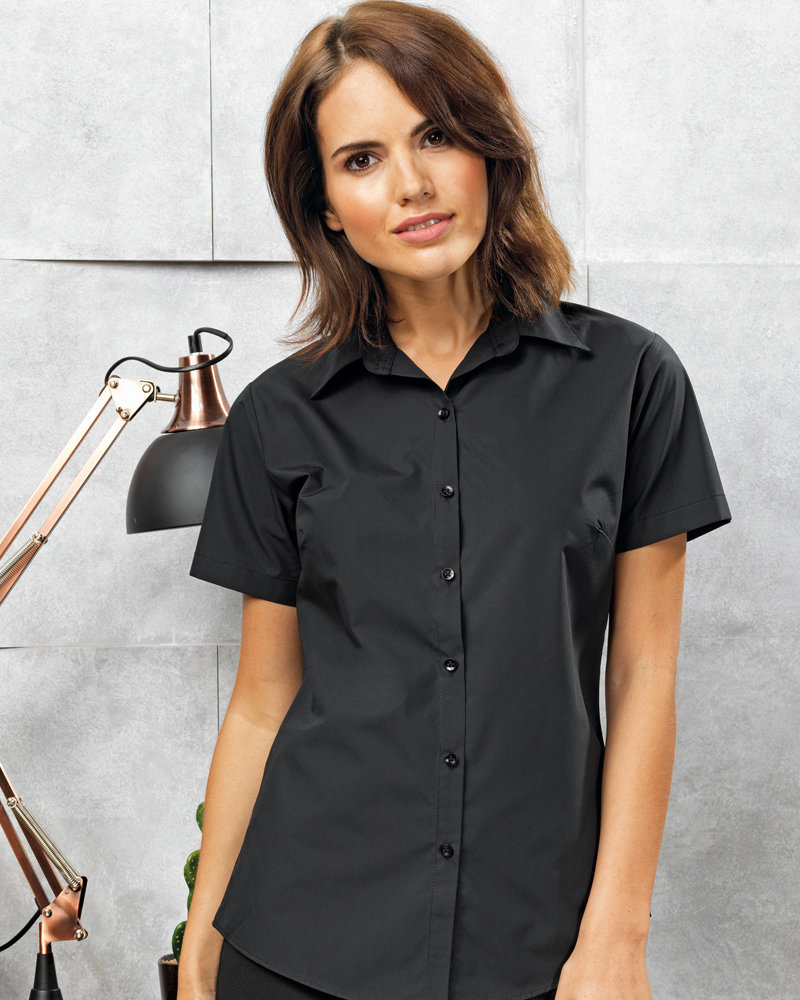 Premier PR309 Ladies Supreme Short Sleeve Poplin Shirt
