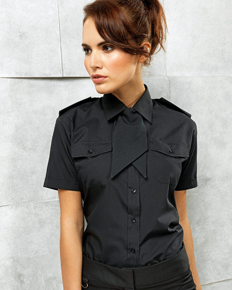 Premier PR312 Ladies Short Sleeve Pilot Shirt