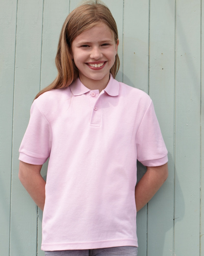 Fruit of the loom SS11B Kids Poly/Cotton Piqué Polo Shirt