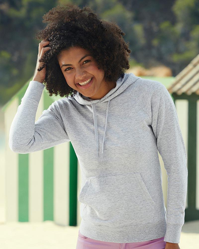 Fruit of the Loom SS181 Lady Fit Lightweight Hooded Sweatshirt