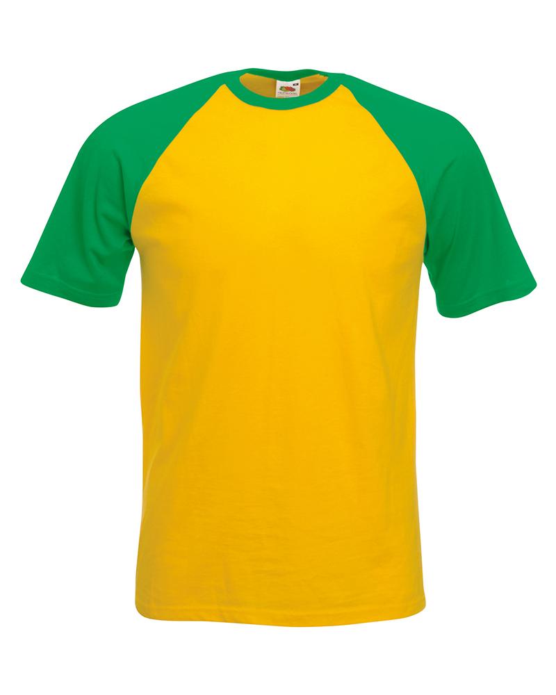 Fruit of the Loom SS31 Contrast Baseball T-Shirt