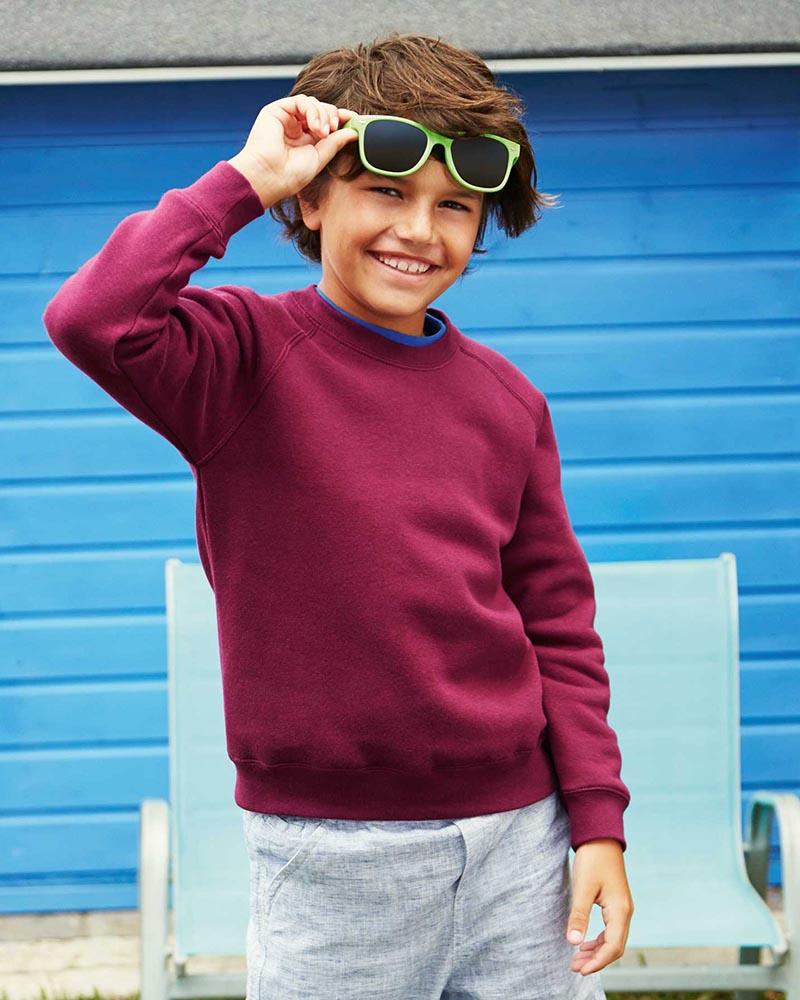 Fruit of the Loom SS8B Kids Classic Raglan Sweatshirt
