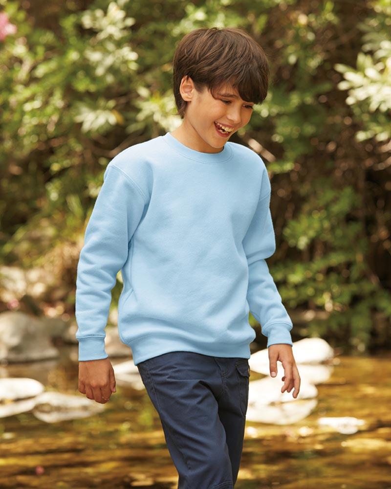 Fruit of the Loom SSE9B Kids Premium Drop Shoulder Sweatshirt