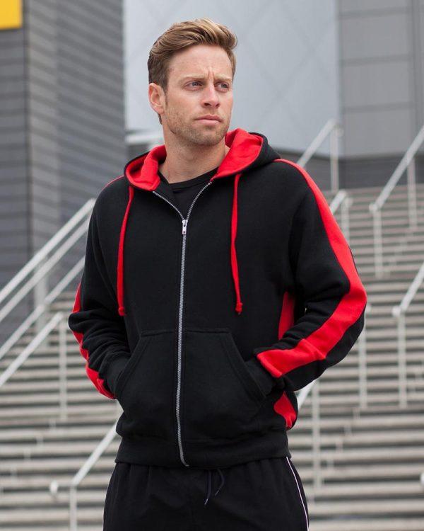 Finden Hales LV330 Contrast Zip Hooded Sweatshirt