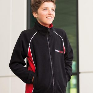 Finden & Hales LV552 Kids Contrast Micro Fleece Jacket