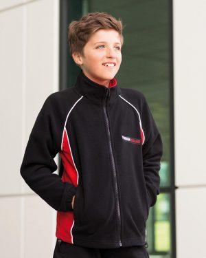 Finden & Hales LV552 Kids Contrast Micro Fleece Jacket