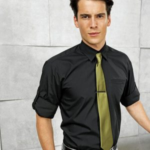 Premier PR206 'Roll Sleeve' Poplin Shirt