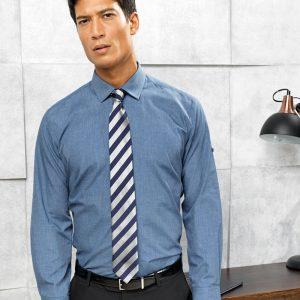Premier PPR217 Cross-Dye Roll Sleeve Shirt