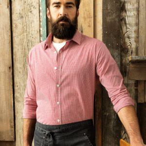 Premier PR220 Gingham Long Sleeve Shirt