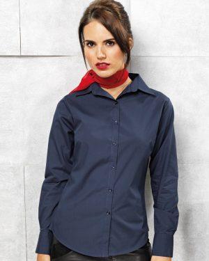 Premier PR300 Ladies Long Sleeve Poplin Shirt
