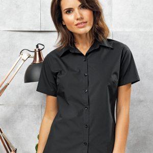 Premier PR309 Ladies Supreme Short Sleeve Poplin Shirt