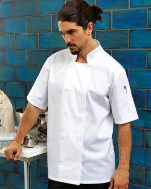 Premier PR656 Short Sleeve Chef's Jacket
