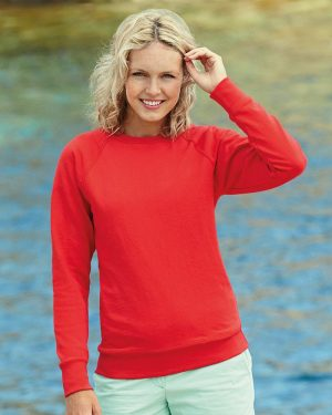 Fruit of the Loom SS180 Lady Fit Lightweight Raglan Sweatshirt