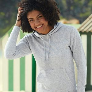 Fruit of the Loom SS181 Lady Fit Lightweight Hooded Sweatshirt