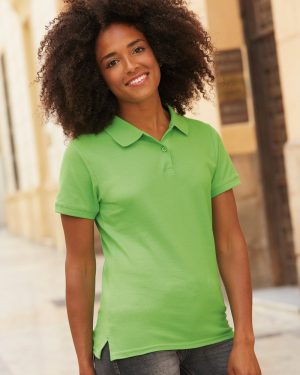 Fruit of the loom SS89 Lady-Fit Premium Cotton Piqué Polo Shirt