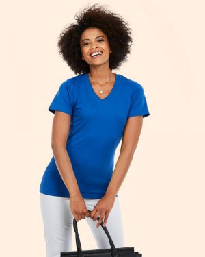 Uneek UC319 Ladies Classic V Neck T Shirt